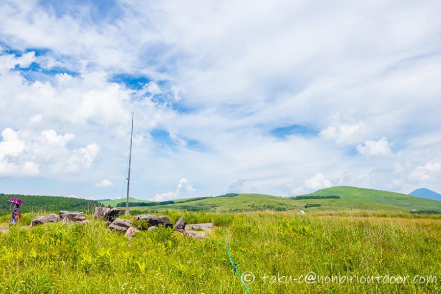 霧ヶ峰スキー場の夏の高原の風景