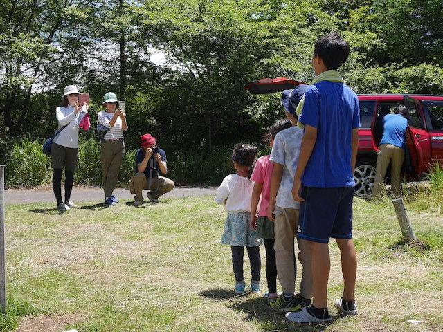 霧ヶ峰キャンプ場での最後の記念撮影