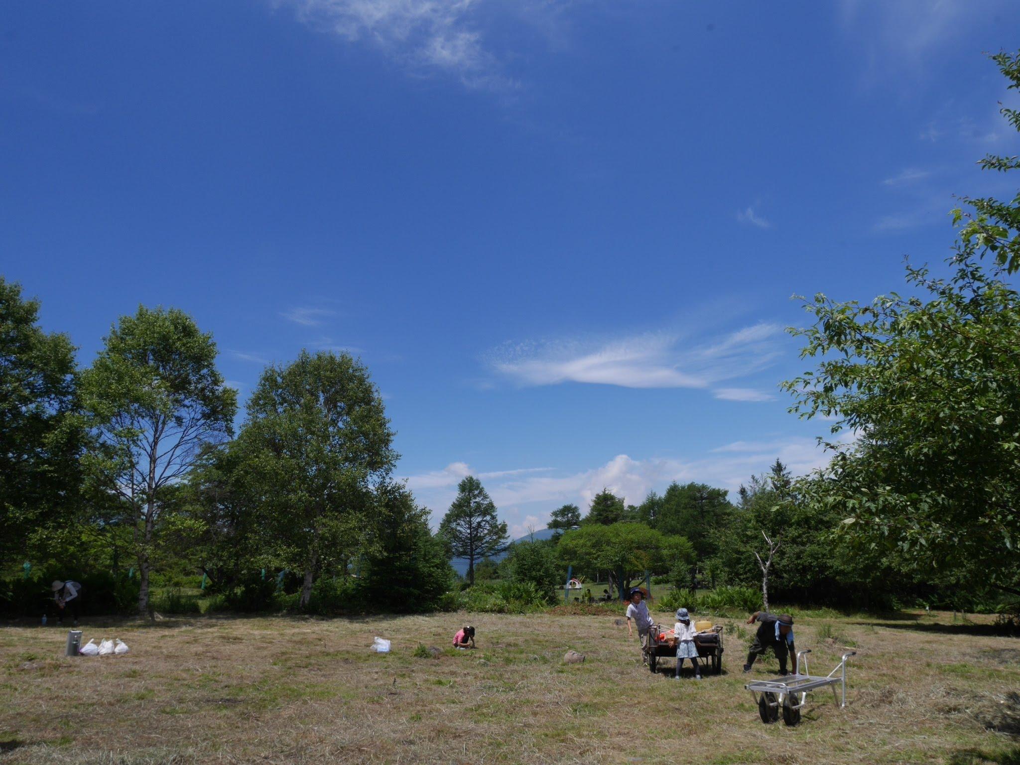 霧ヶ峰キャンプ場の撤収完了風景