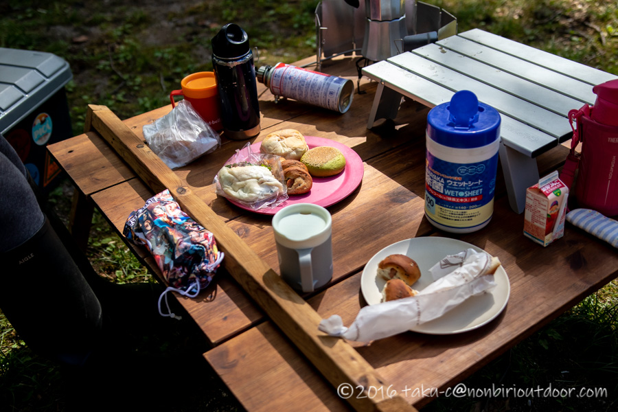 菅沼キャンプ村で昼食