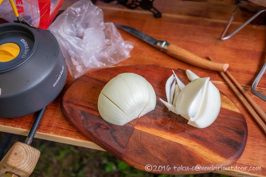 菅沼キャンプ村でシチューを作る
