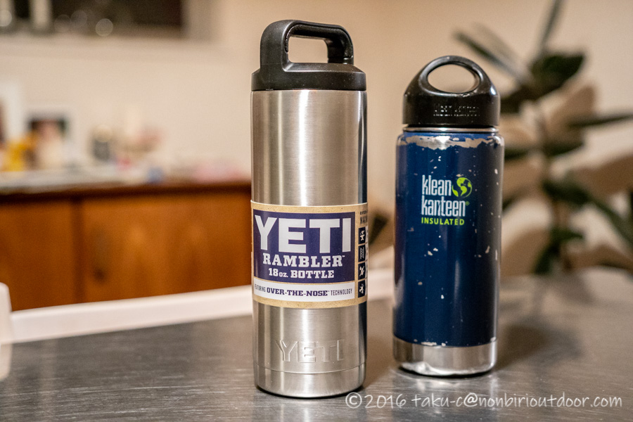 YETIのRAMBLER18oz BOTTLEを買いました