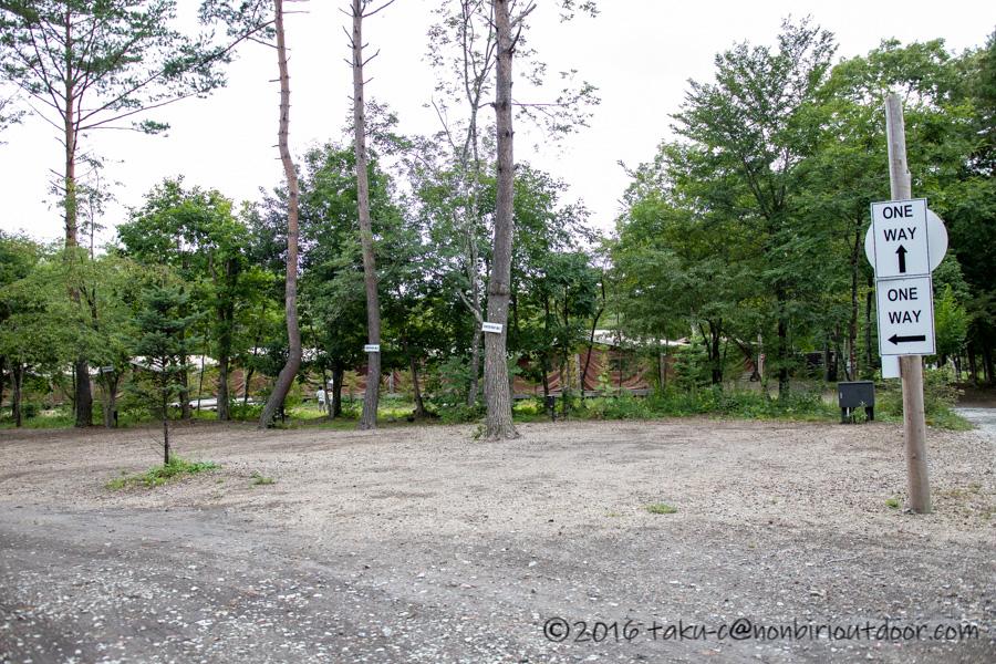 ライジングフィールド軽井沢のオートキャンプサイト