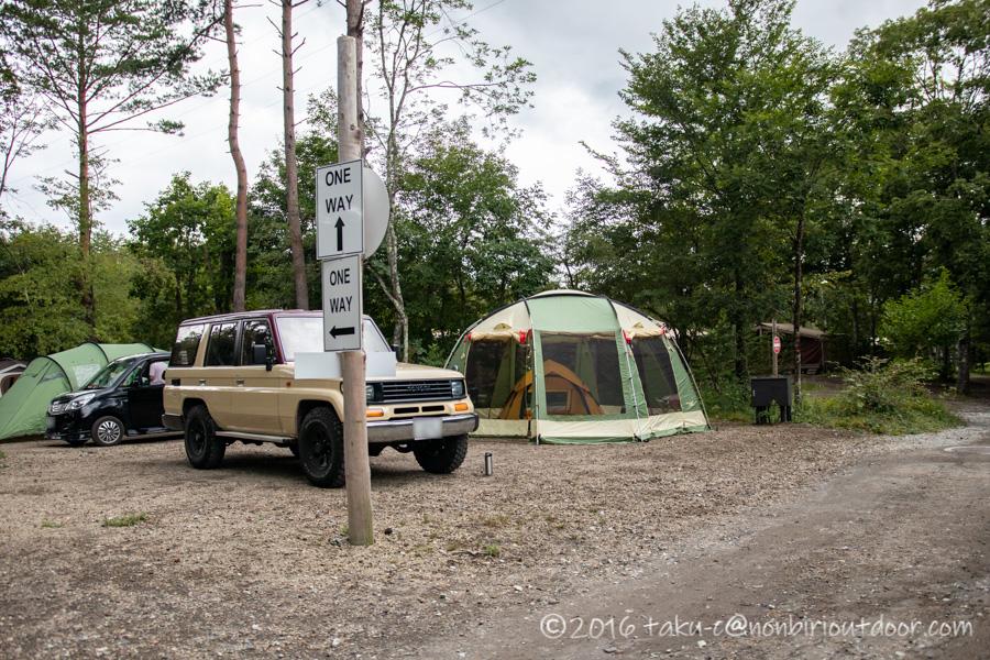 ライジングフィールド軽井沢でテント設営完了