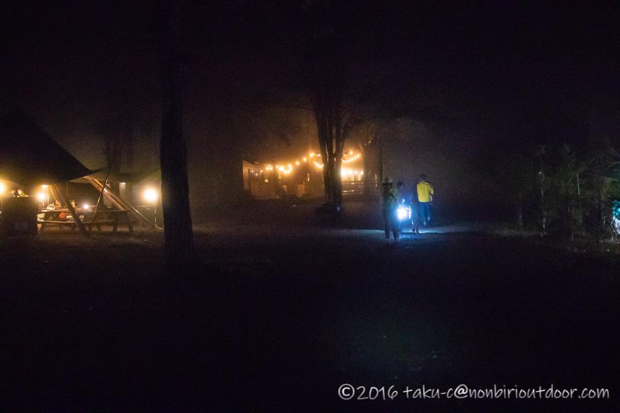 ライジングフィールド軽井沢で花火をする