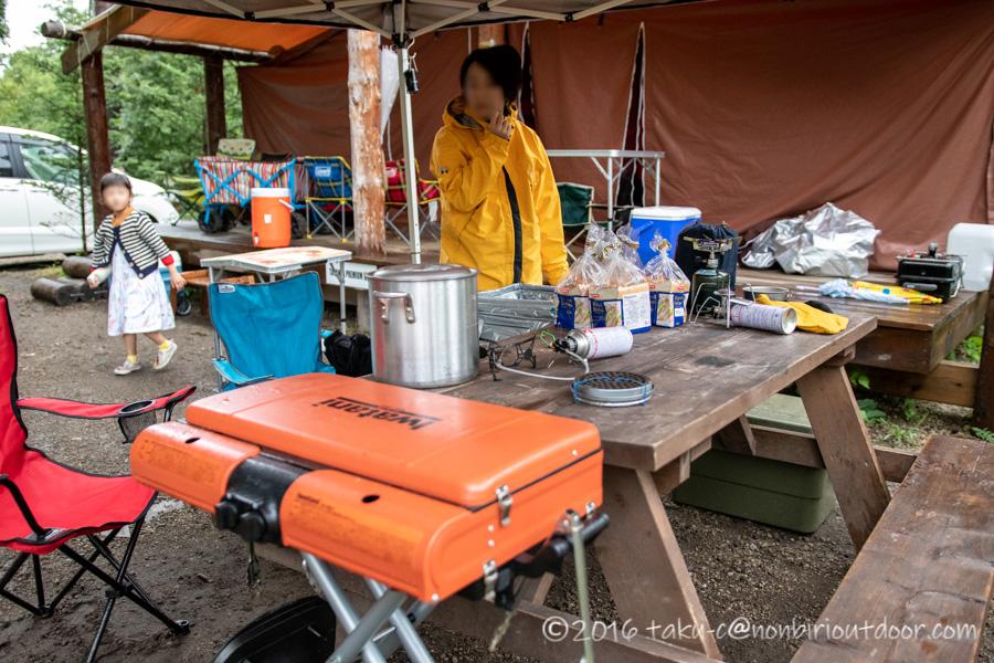ライジングフィールド軽井沢の朝ご飯の準備