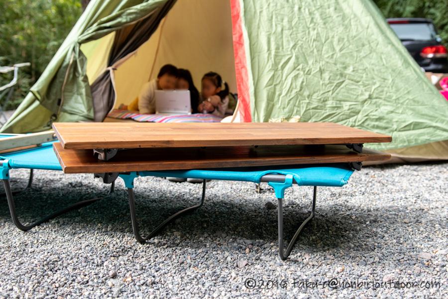 赤城オートキャンプ場で自作テーブルを初使用