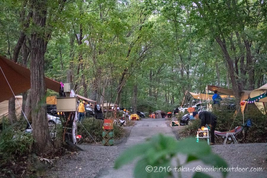 赤城オートキャンプ場でハロウィンキャンプの雰囲気