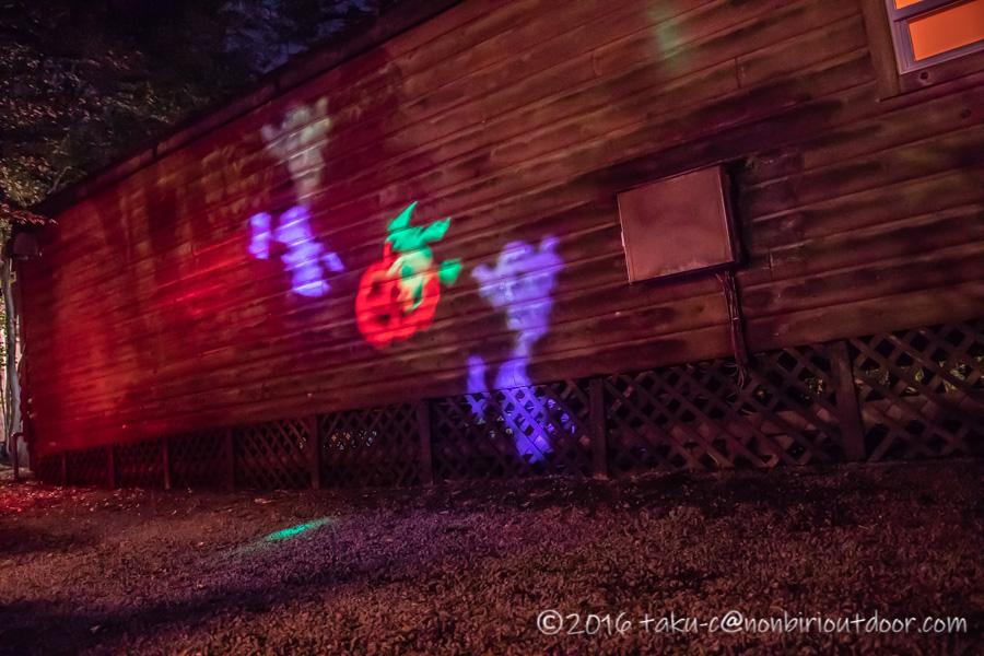 赤城オートキャンプ場のハロウィンパレードでのサイトデコレーション