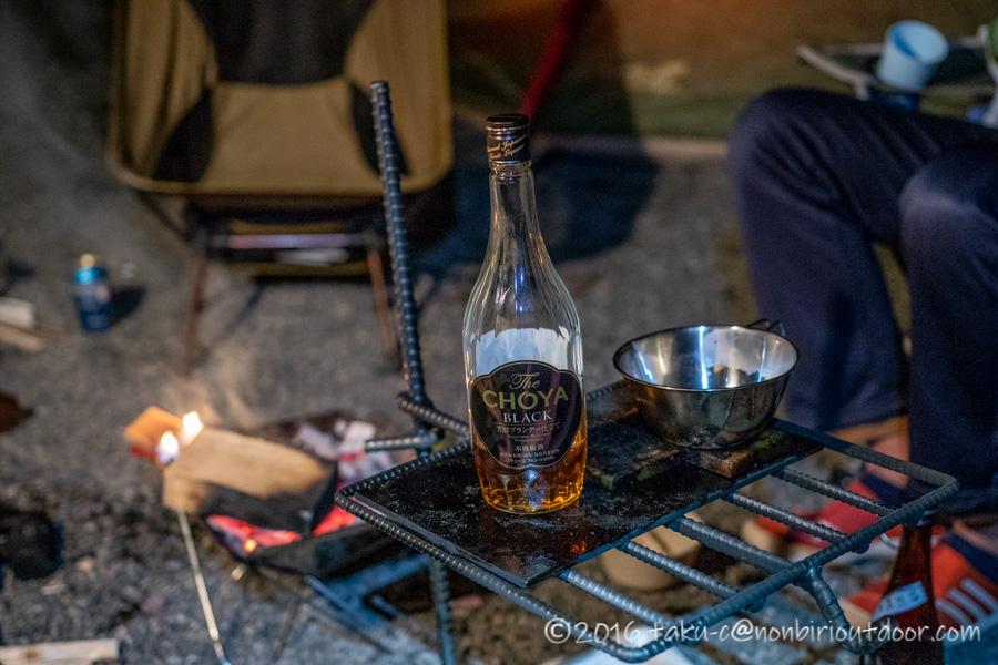 赤城オートキャンプ場で夜の宴会