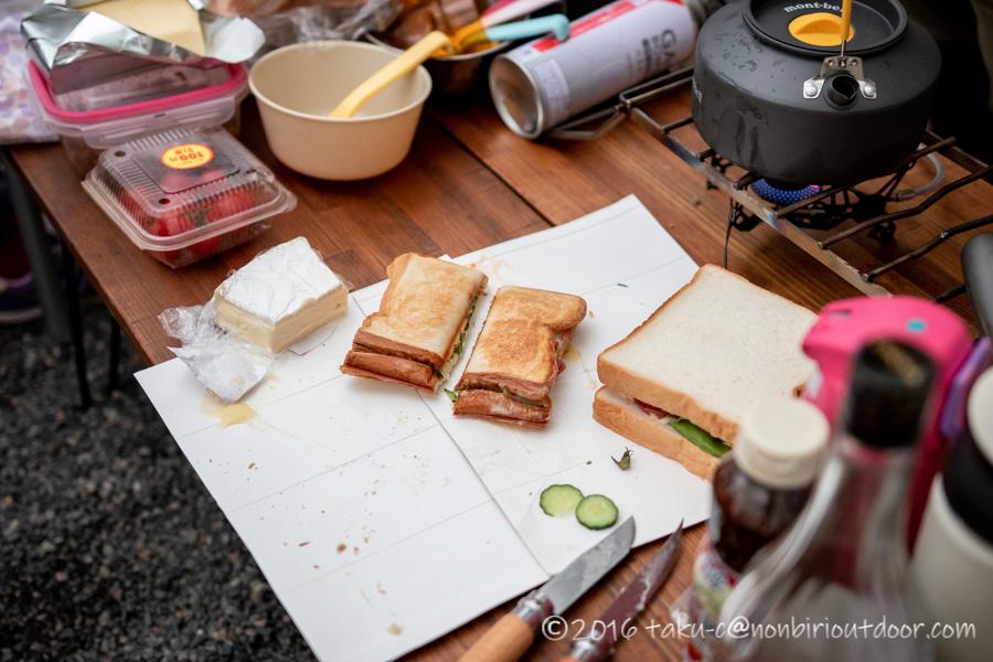 赤城オートキャンプ場のハロウィンキャンプ朝ご飯