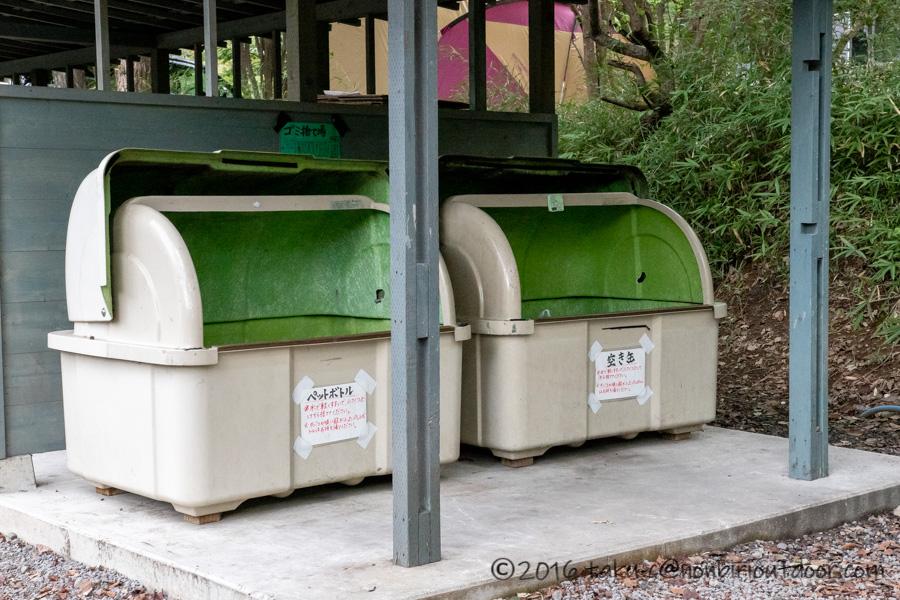 赤城オートキャンプ場のゴミ捨て場