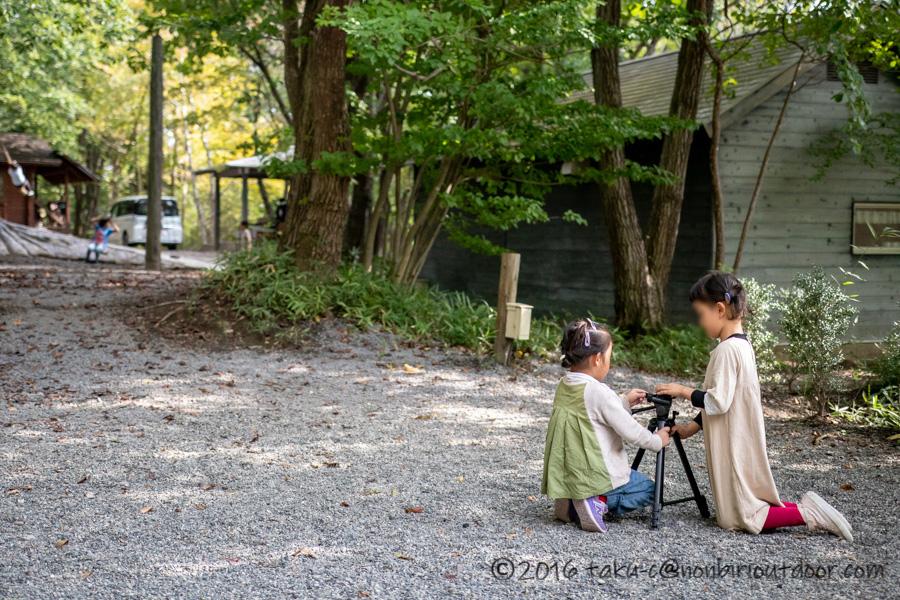 赤城オートキャンプ場での子供の風景