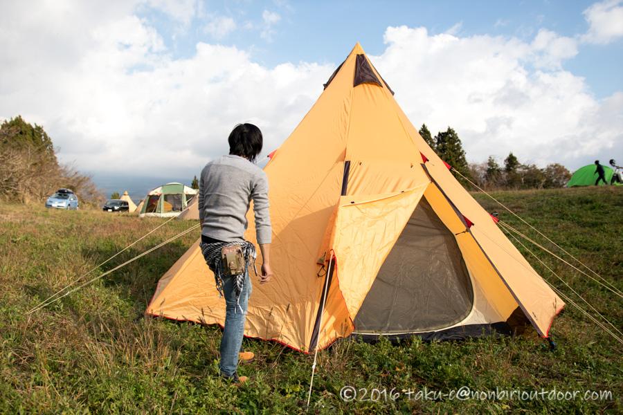 いたちさんのテントのノースイーグルBIGフロントワンポールテント
