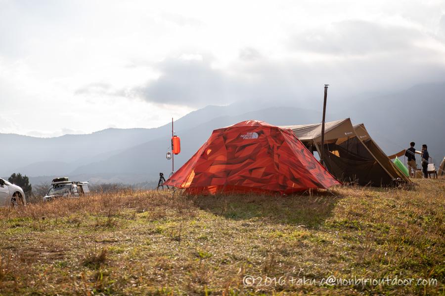 富士山YMCAで行われた第2回ナチュログ写真部合同合宿のKさんのNorthFaceテント