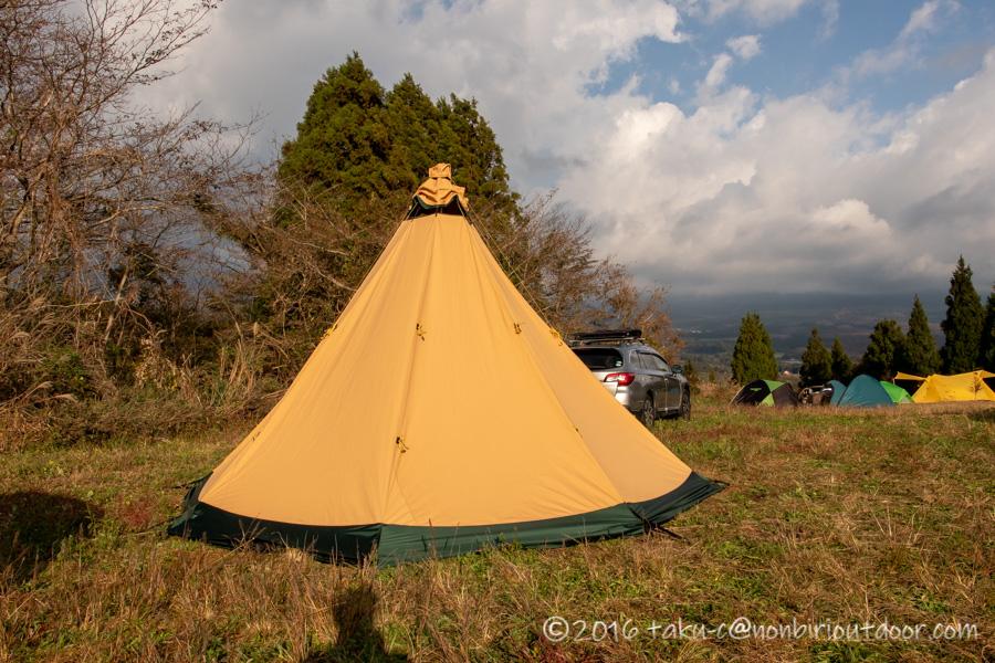 富士山YMCAで行われた第2回ナチュログ写真部合同合宿のEgnathさんのテンティピ