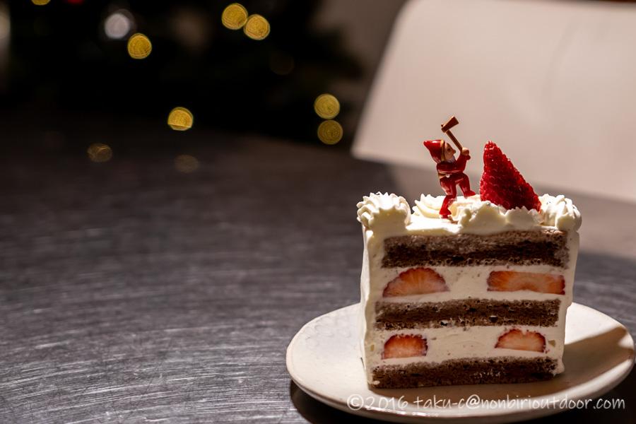 クリスマスキャンプは手製クリスマスケーキを作りました。