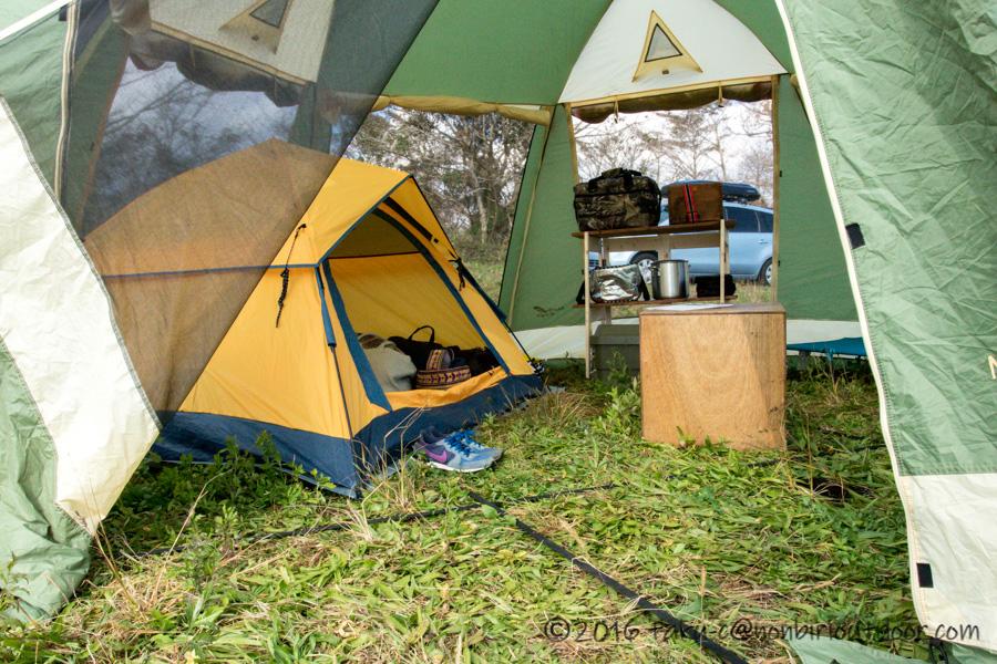 第2回ナチュログ写真部合同合宿のtaku-cのテント