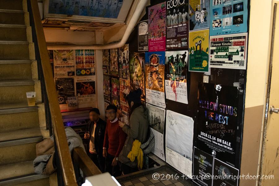渋谷のライブハウス乙の風景