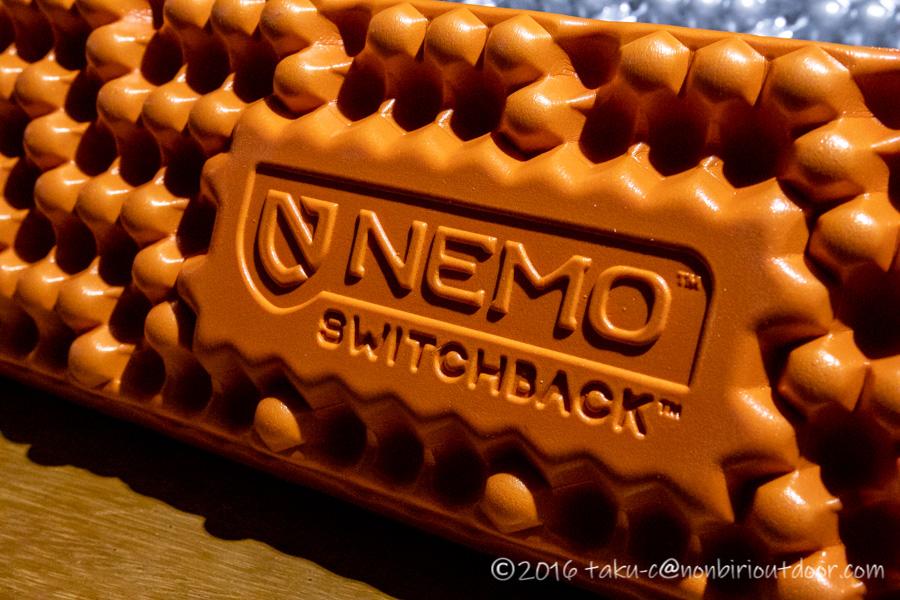 NEMOの寝袋マットSWITCHBACKのロゴ