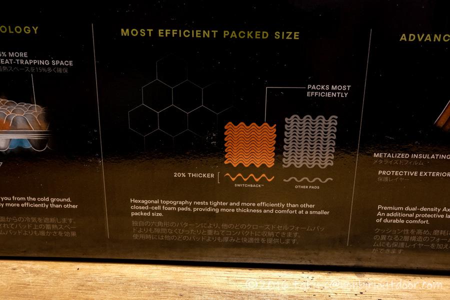 NEMOの寝袋マットSWITCHBACKのパッケージ
