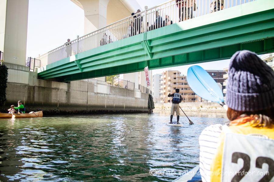 第37回横浜縦断カヌーフェスティバルのBコース折り返し地点