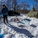 生ハムと雪中キャンプとおっさんw 五光牧場オートキャンプ場で雪中キャンプ~前編~