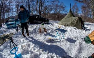 五光牧場オートキャンプ場で雪中キャンプ