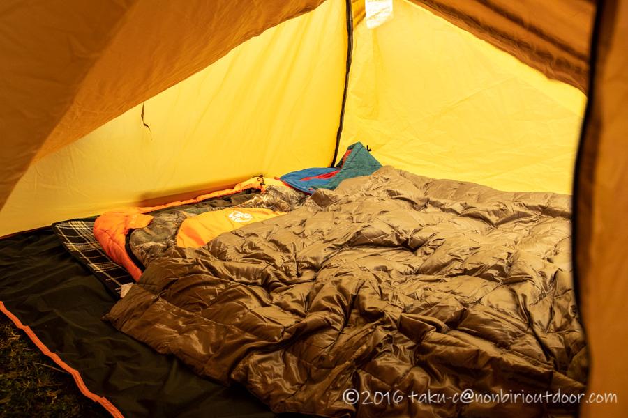 ふもとっぱらでダイヤモンド富士キャンプの寝床