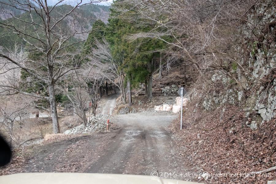 某県某所の野営地の道のり