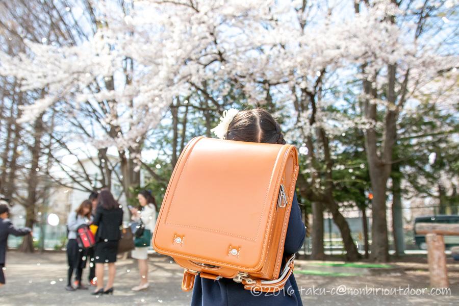 桜舞い散る。。。娘が小学生になりました