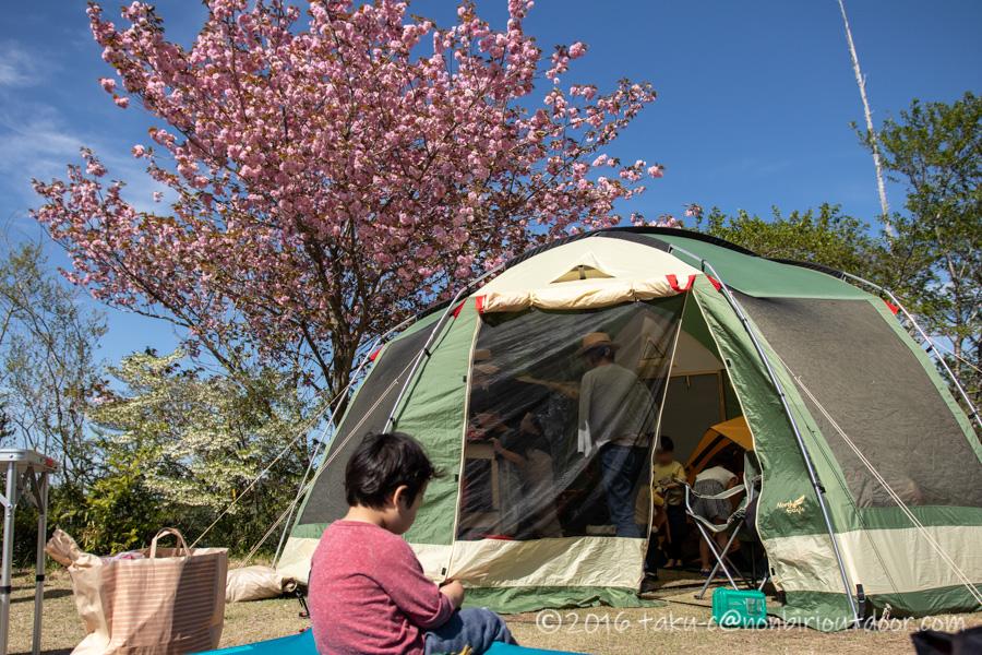 鷲の巣キャンプ場で陶器市キャンプ