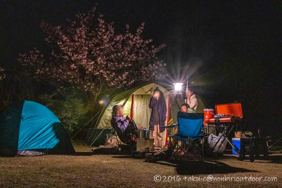 鷲の巣キャンプ場での夜の宴