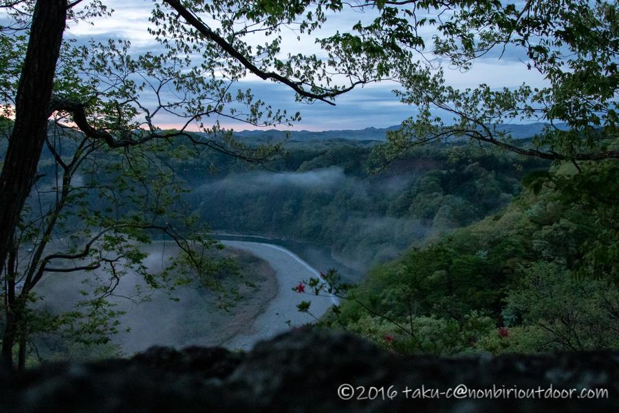 茂木町の鎌倉山展望台からの朝日