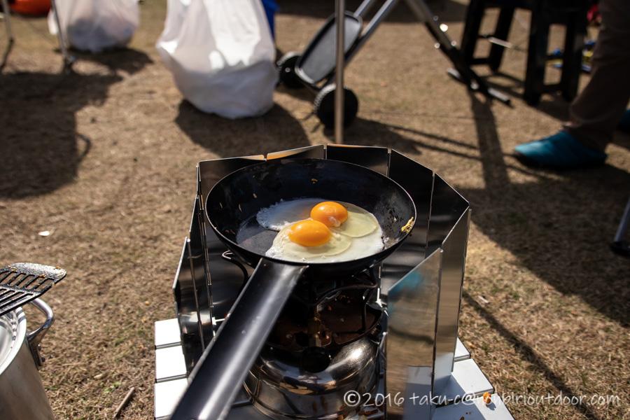 鷲の巣キャンプ場の朝のご飯