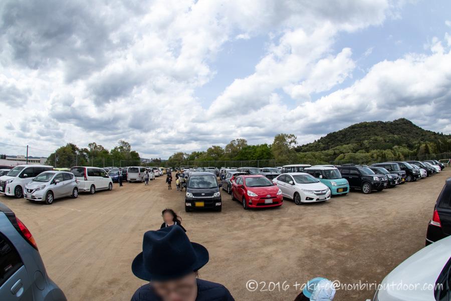 2019年の笠間の陶炎祭(ひまつり)の臨時駐車場