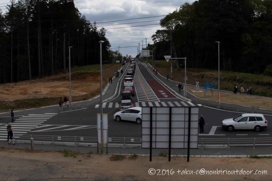 2019年の笠間の陶炎祭(ひまつり)の会場までの渋滞