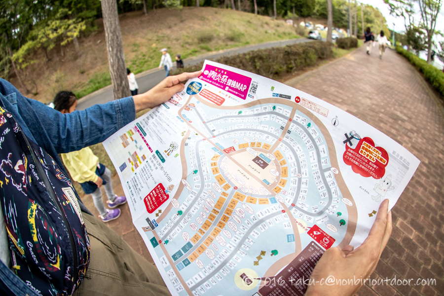 2019年の笠間の陶炎祭(ひまつり)の地図