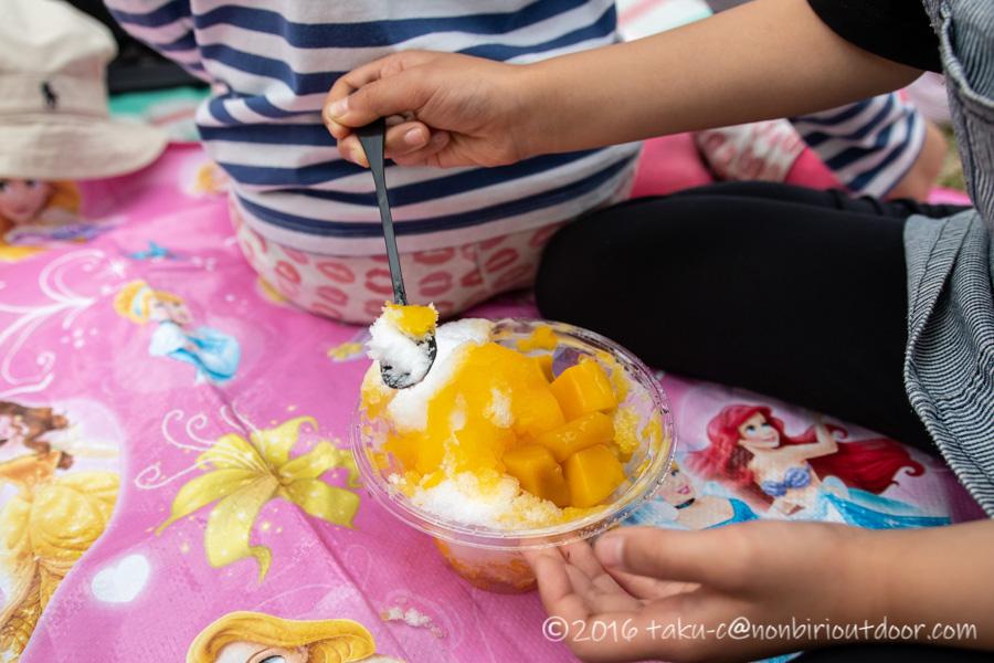2019年の笠間の陶炎祭(ひまつり)でかき氷
