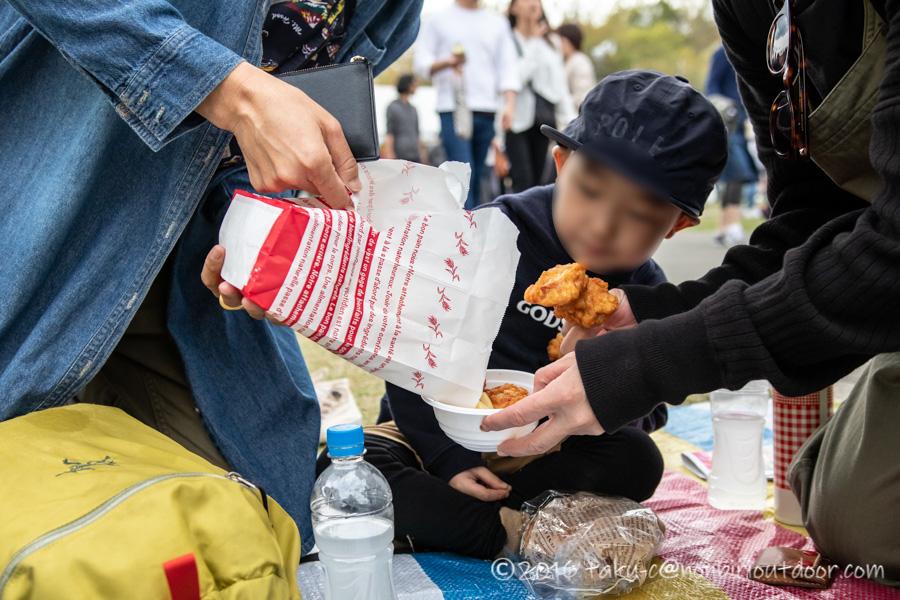 2019年の笠間の陶炎祭(ひまつり)で唐揚げ