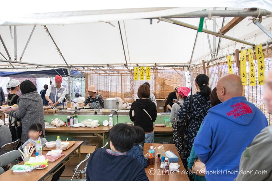 2019年の笠間の陶炎祭(ひまつり)で蕎麦
