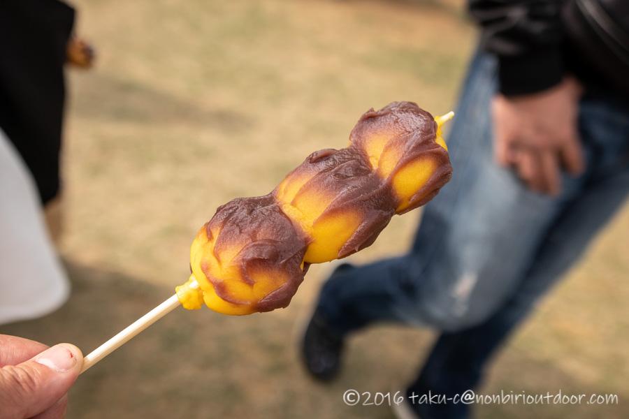 2019年の笠間の陶炎祭(ひまつり)のだんご