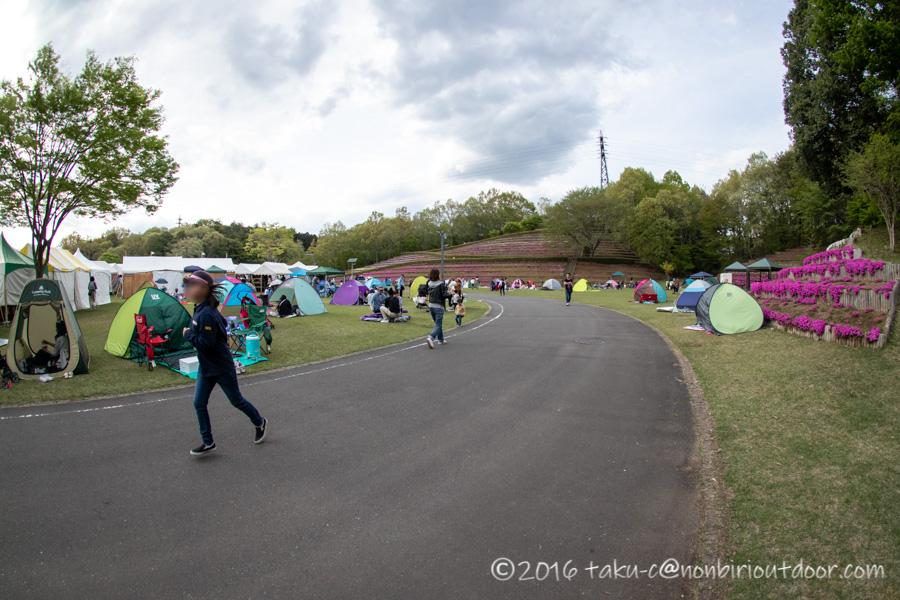 2019年の笠間の陶炎祭(ひまつり)の会場内