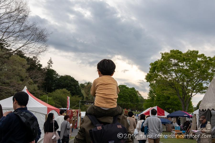 2019年の笠間の陶炎祭(ひまつり)の帰り道