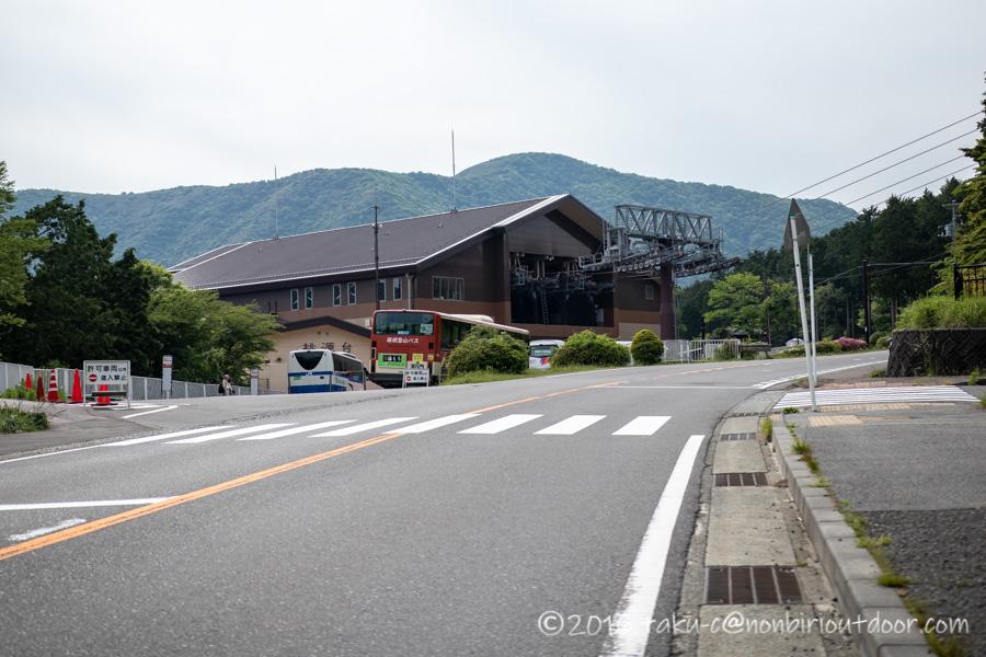 箱根芦ノ湖から大涌谷方面へのロープウェイ乗り場