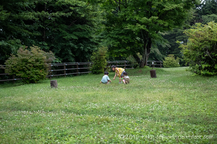 ときがわ町の星と緑の創造センターで遊ぶ子供たち