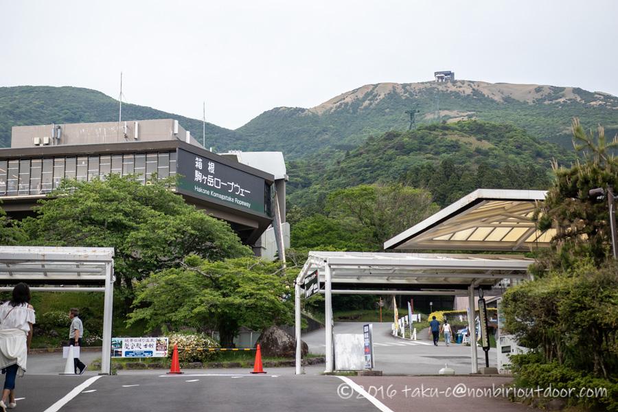 箱根の箱根園から駒ヶ岳へのロープウェイ乗り場
