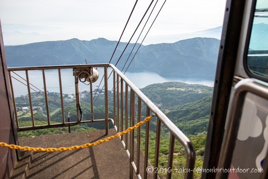箱根の駒ヶ岳ロープウェイから降りたところ