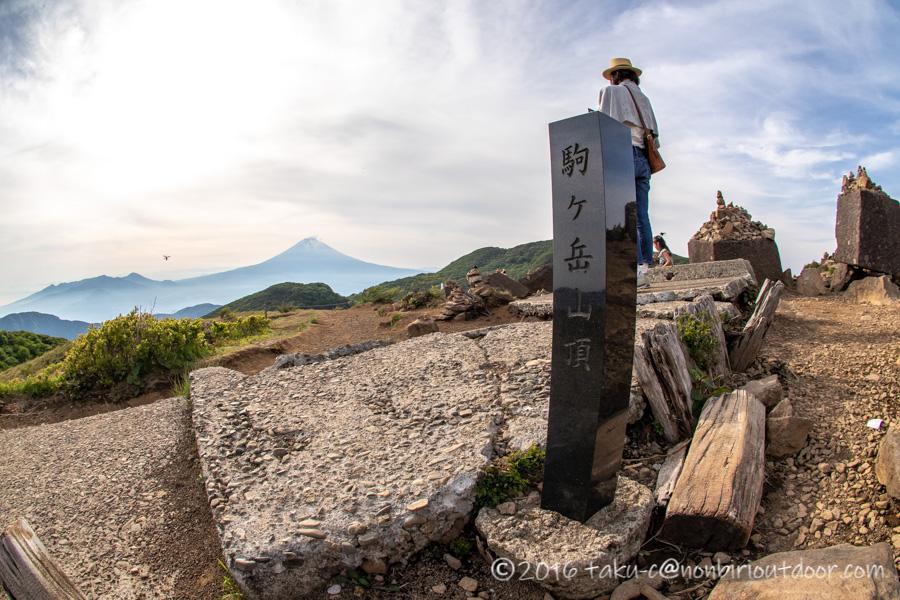 箱根の駒ヶ岳山頂からの富士山