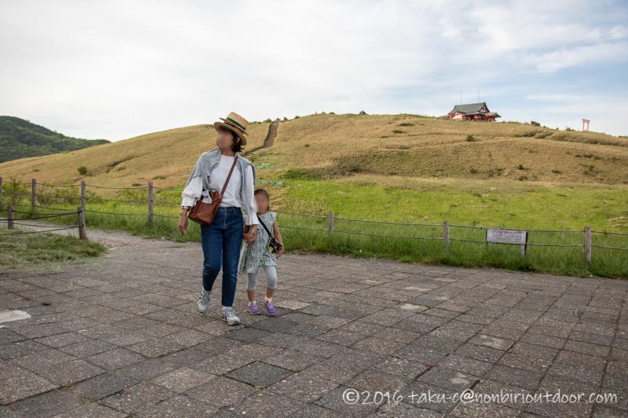 箱根の駒ヶ岳山頂の風景